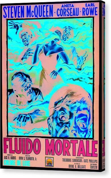 The Blob, Italian Poster Art, 1958 Canvas Print by Everett