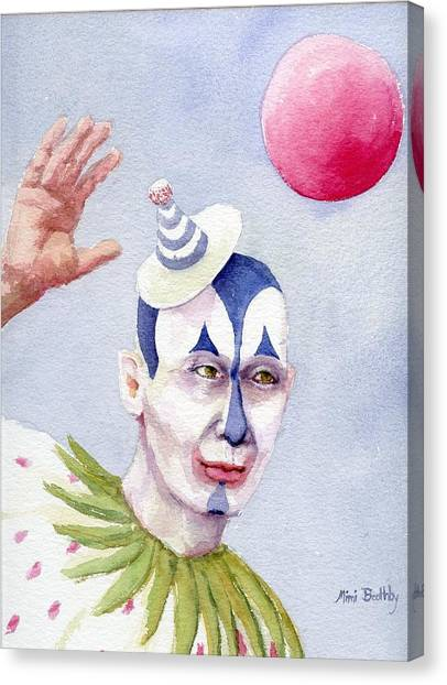 The Blue Clown Canvas Print