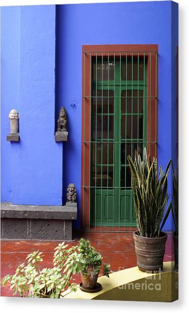 The Blue House Mexico City Canvas Print