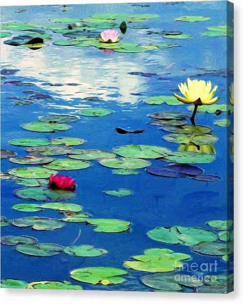 The Blue Pond  Canvas Print