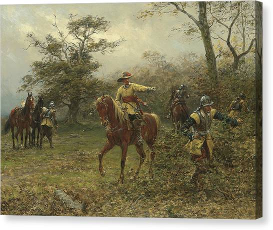 Protective Clothing Canvas Print - The Boscobel Oak by Earnest Crofts