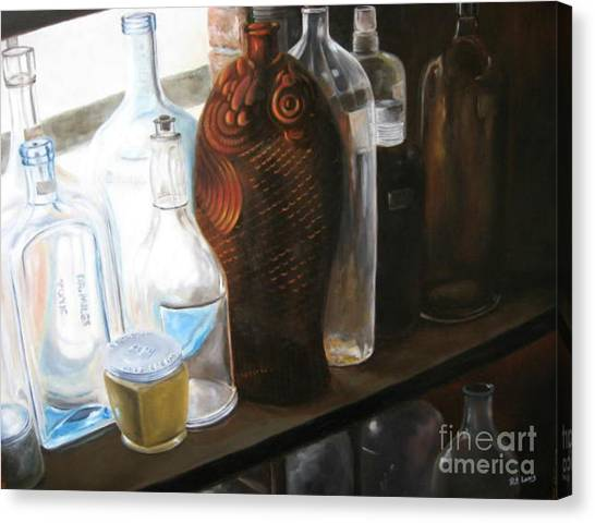 The Bottles  Canvas Print by Patricia Lang