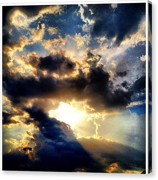 Heaven Canvas Print - The Break Through Comes by Tawanda Baitmon