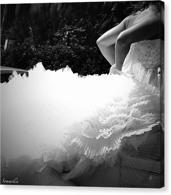 Wedding Canvas Print - The Bride's Veil - Naples Italy 2012 by Gianluca Sommella