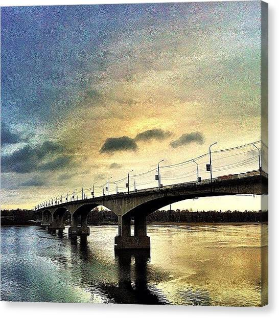 Russia Canvas Print - The #bridge In #yaroslavl #russia by Denis Platonov