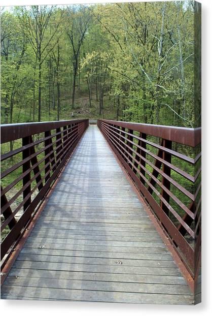 The Bridge That Divides Canvas Print
