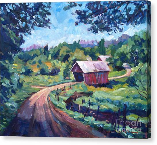 Roads Canvas Print - The Bridges Of East Randolph Vermont by David Lloyd Glover