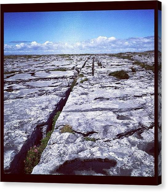 Geology Canvas Print - The Burren by Maeve O Connell