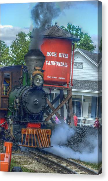 The Cannonball Express Canvas Print