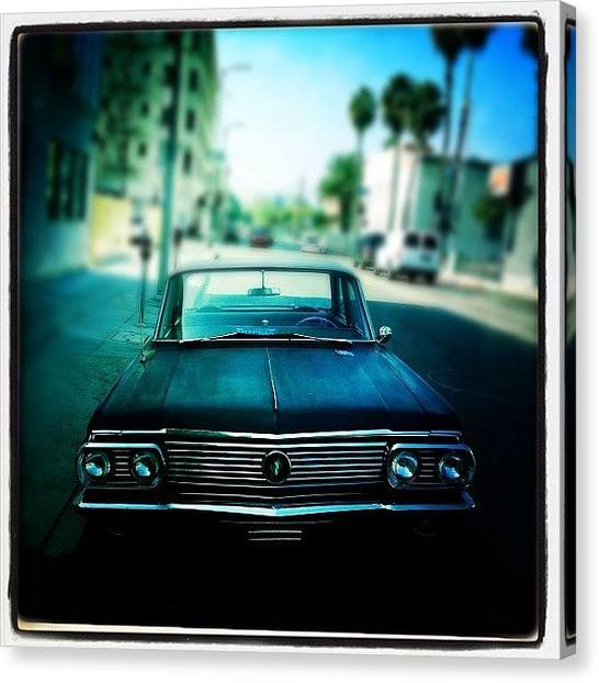 Hollywood Canvas Print - The Car by Torgeir Ensrud