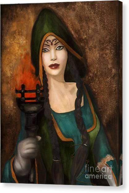 The Catacomb Canvas Print by Alysa Fioretzi