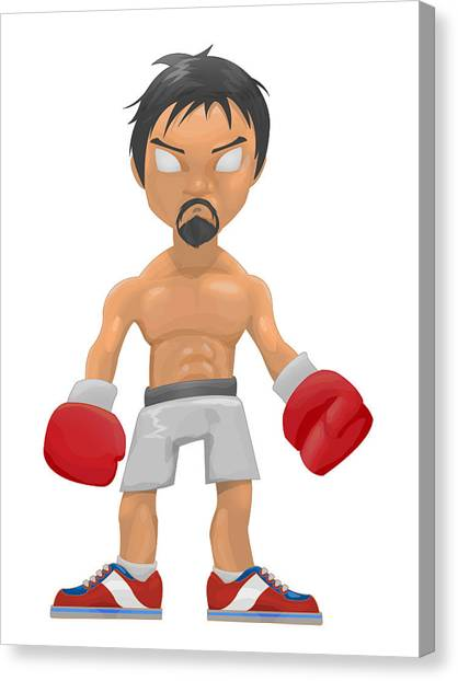 Manny Pacquiao Canvas Print - The Champ by Frederick Paculba