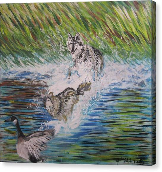 The Chase Canvas Print by Julia Rita Theriault