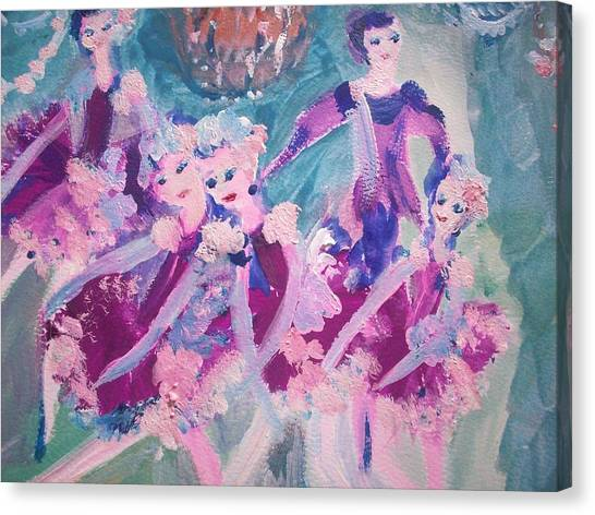 The Chocolate Chandelier Ballet Company Canvas Print by Judith Desrosiers