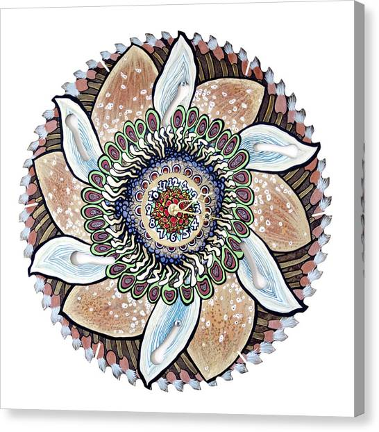The Chris-can-themum Wall Clock Canvas Print by Jessica Sornson