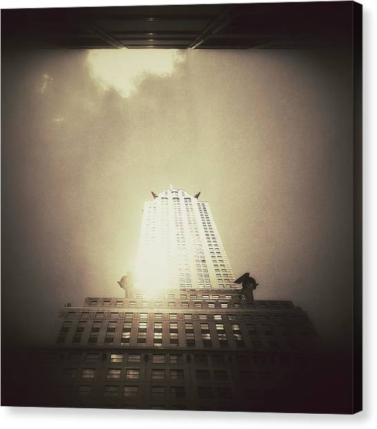 Surrealism Canvas Print - The Chrysler Building - New York City by Vivienne Gucwa