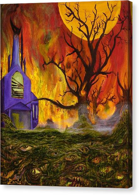 The Church Of Ruin Canvas Print