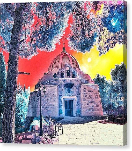 Beach Sunsets Canvas Print - The Church Of The Shepherd's Fields by Tommy Tjahjono