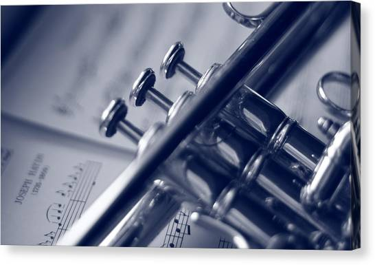 Trumpet Canvas Print - The Classics by Jennifer Grover