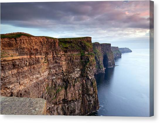The Cliffs Of Moher Canvas Print by Brendan O Neill