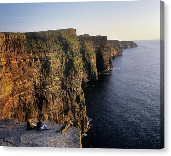 The Cliffs Of Moher Canvas Print - The Cliffs Of Moher, County Clare by The Irish Image Collection