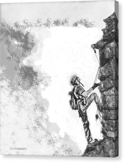The Climber Canvas Print by Jim Hubbard
