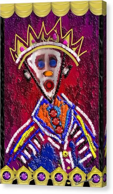The Clown King Canvas Print