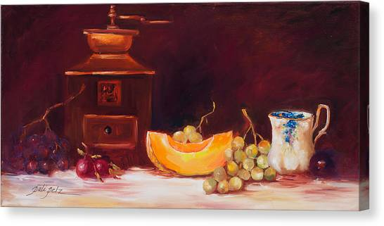 The Coffee Grinder Still Life Canvas Print