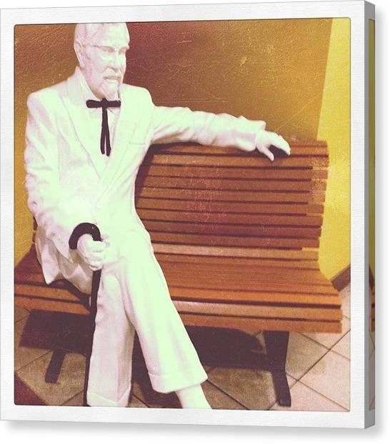 Kentucky Canvas Print - The Colonel Was Giving Me The come by Allison Faulkner