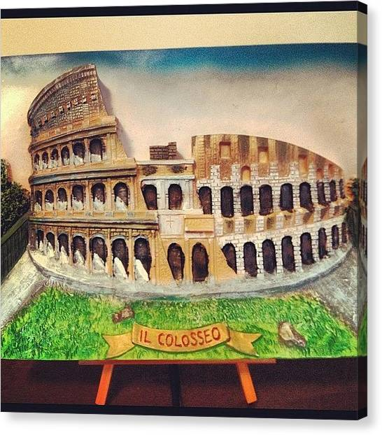 Rome Canvas Print - The Colosseum- Bas Relief Art by L. Chris Curry