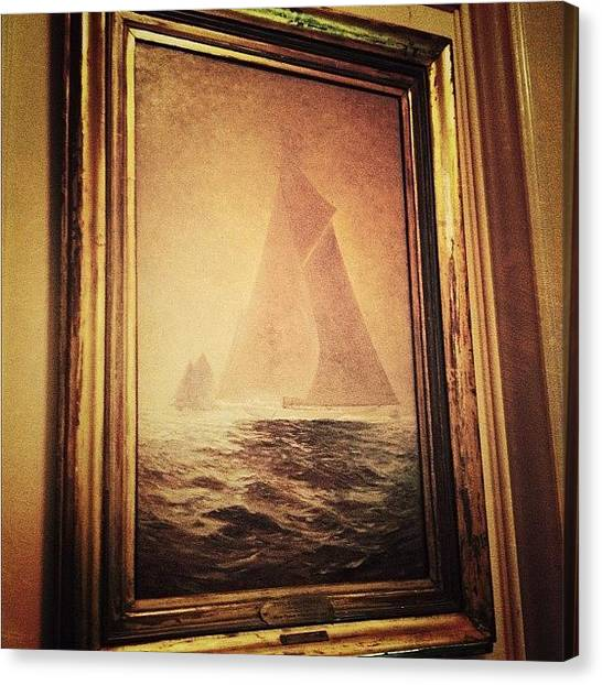Sailboats Canvas Print - the Columbia 1903 Painting by Natasha Marco
