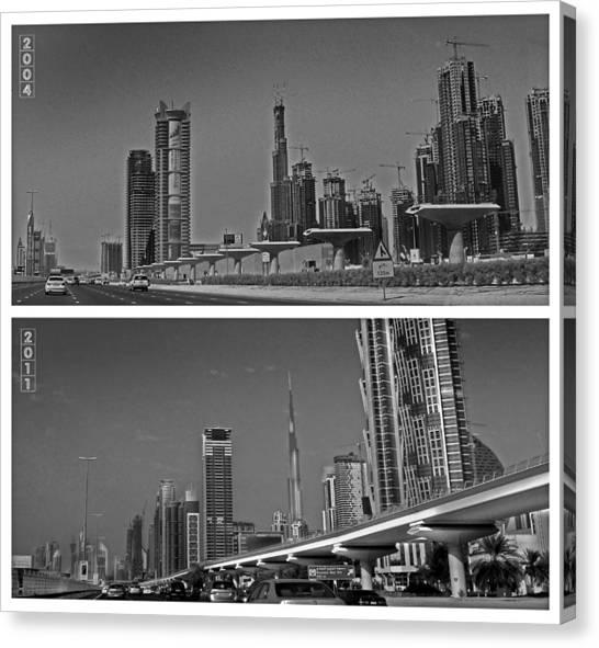 Dubai Skyline Canvas Print - The Construction Boom by Farah Faizal