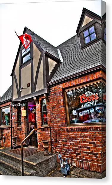 Washington State University Canvas Print - The Coug Bar And Grill by David Patterson