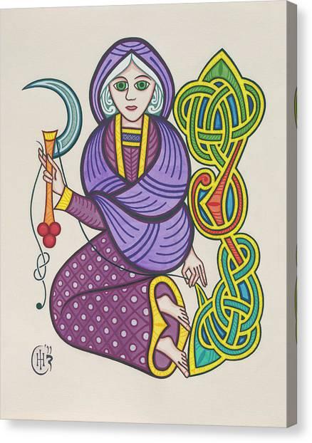 Knotwork Canvas Print - The Crone by Ian Herriott