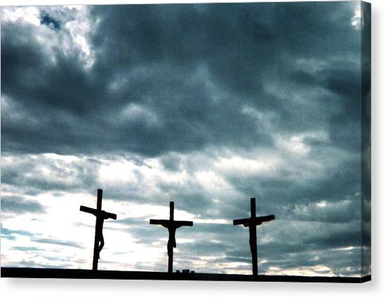 The Crosses At Groom Canvas Print by Ed Golden