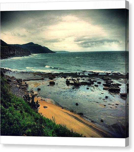 Saints Canvas Print - The Cruel Sea #iphoneography by Kendall Saint