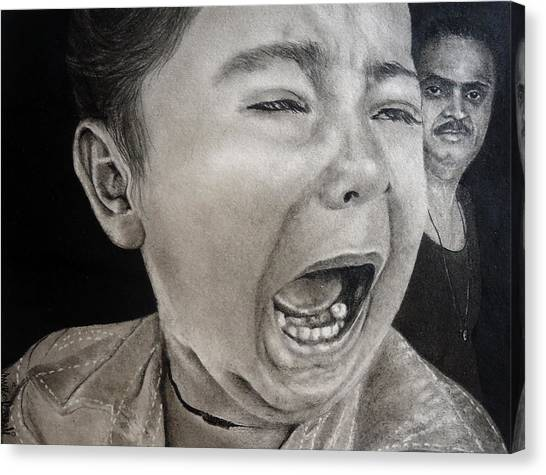 The Crying Child Canvas Print by Mickey Raina