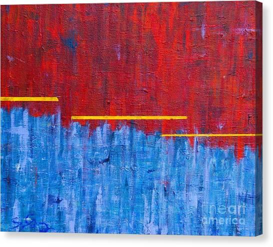 The Curtain Draws Closed Canvas Print