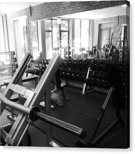 Gym Canvas Print - The Daily Grind by Drew Blazaitis