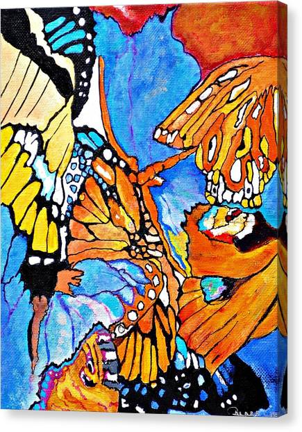 The Dance Of The Butterflies Canvas Print