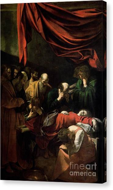 Sick Canvas Print - The Death Of The Virgin by Caravaggio