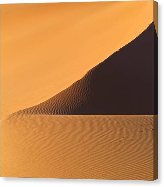Sandy Desert Canvas Print - The Desert In Nambia, Africa by Keith Levit