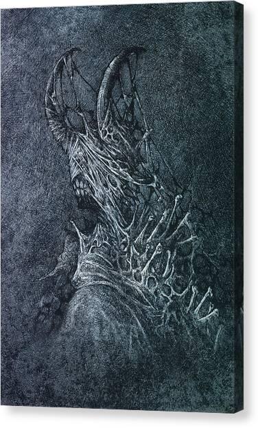 The Devil Canvas Print by Maciej Kamuda