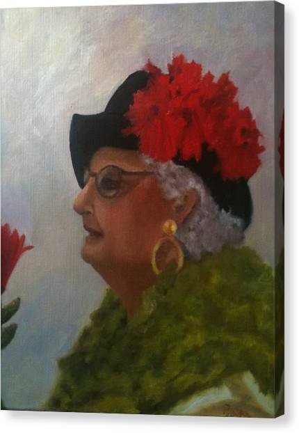 The Diva Canvas Print by Betty Pimm