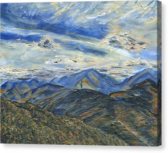 The Dix Range From Giant Peak Canvas Print