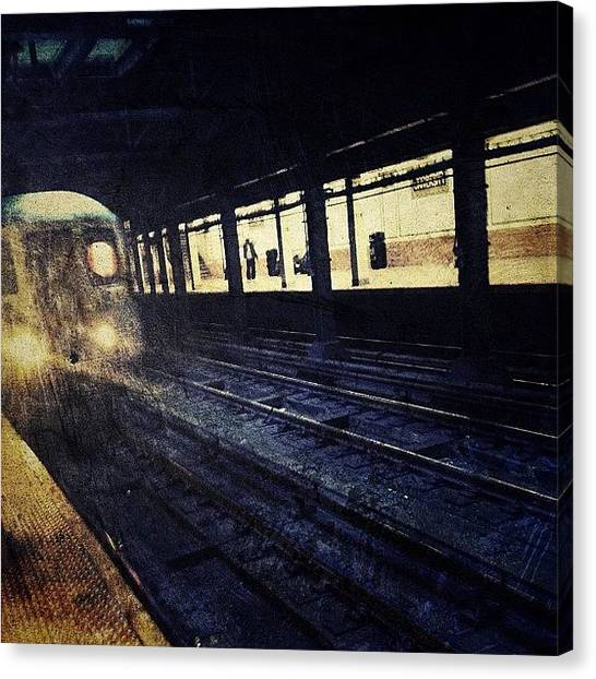 Trains Canvas Print - The Downtown Train by Natasha Marco