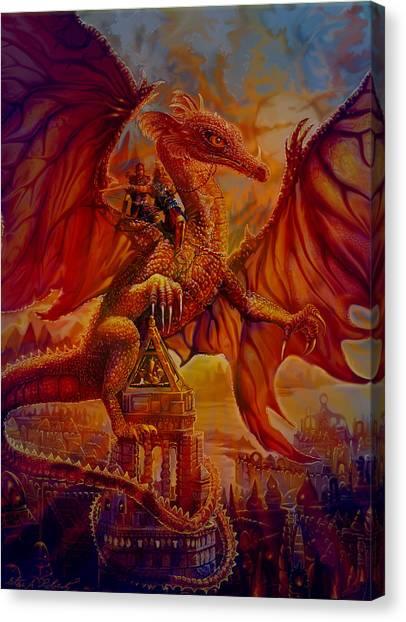 The Dragon Riders Canvas Print