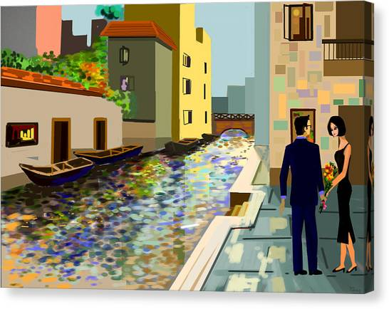 The Dream Date Canvas Print