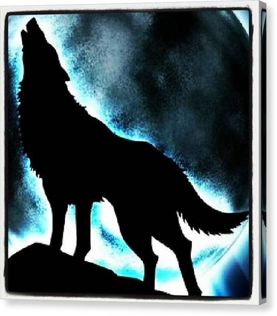 Wolf Moon Canvas Print - The Dream Is Alive, I Can Run Up The by Franco Isla Massa