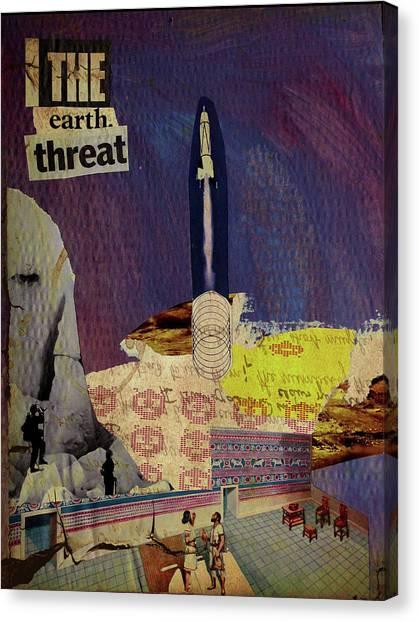 The Earth Threat Canvas Print by Adam Kissel
